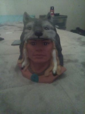 Wolf and Indian statue for Sale in Parkersburg, WV