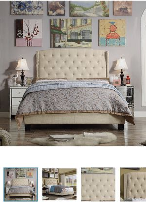 Brand New IN BOX King Upholstered Bed Frame for Sale in Springdale, AR