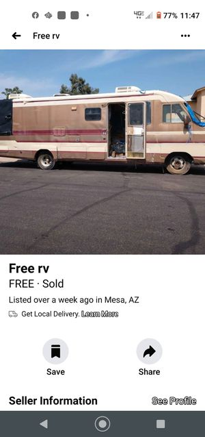1989 fleetwood FREE (serious inquiries only) for Sale in Gilbert, AZ