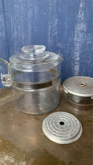 Rare Pyrex Flameware 4 cup percolator (missing stem) for Sale in Fort Worth, TX