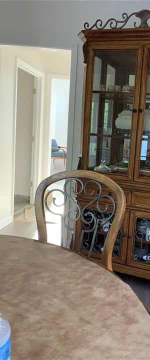 Chine with dining table and 5 oak chairs for Sale in Nashville, TN