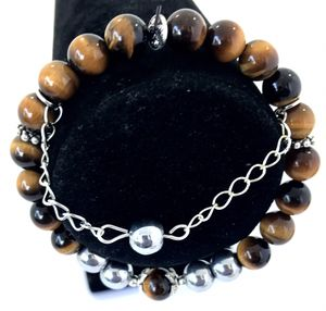 Men's beaded chain bracelet for Sale in Concord, NC