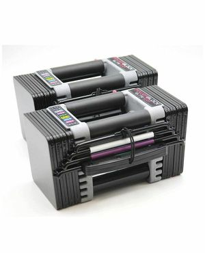 Brand New Powerblocks Pair USA Elite 5-50 Expandable Adjustable Dumbbells for Sale in Tracy, CA