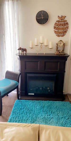 Free Fire place. Dark brown. The heater isn't working It needs easy repair for Sale in South San Francisco, CA