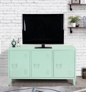 🎅😍Matapouri 3-Doors Green Metal Accent Cabinet TV Stand With Storage ♥️💫 for Sale in Houston, TX