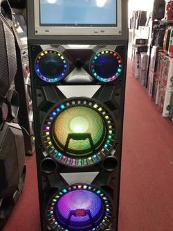 TALL AND TOWER BLUETOOTH KARAOKE PARTY SPEAKER WITH BUILT IN WIFI. YOUTUBE APP AND MICROPHONE INTCLUDED. FINANCING AVAILABLE for Sale in Los Angeles,  CA