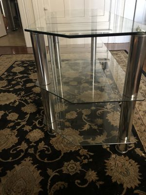 Glass TV Stand $60 for Sale in San Francisco, CA