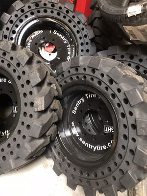 4x 10-16.5 solid tires bobcat tires with rim for Sale in Loma Linda, CA