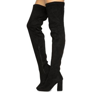 Black Thigh High Suede Boots for Sale in La Verne, CA