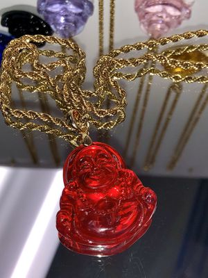 Reb Buddha Pendant 14 k Gold filled rope chain necklace for Sale in Sunnyvale, CA