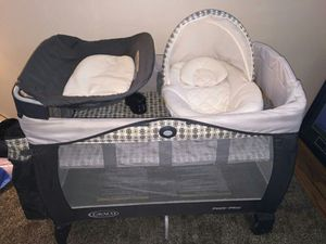 Playpen with bassinet an changing table for Sale in West Valley City, UT
