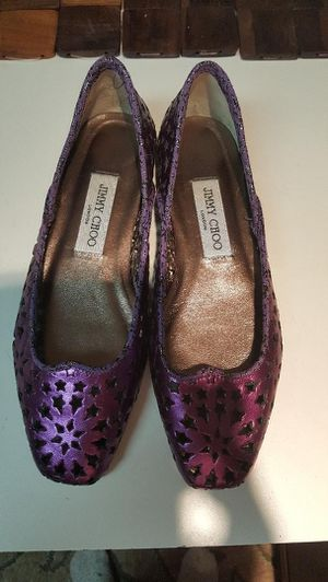 Authentic Jimmy Choo purple metallic star cut out Flats for Sale in Alexandria, VA
