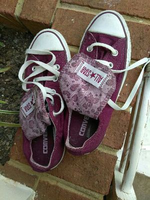 NEW LOWER PRICE: Converse all star purple size 6 womens for Sale in Silver Spring, MD