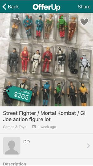 Action figures Mortal Kombat Street Fighter Gi Joe for Sale in Baltimore, MD