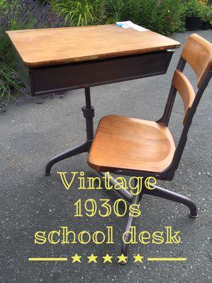 Vintage 1930s school desk for Sale in Kirkland, WA