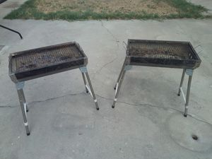 (2) Small Charcoal Grills for Sale in Fullerton, CA