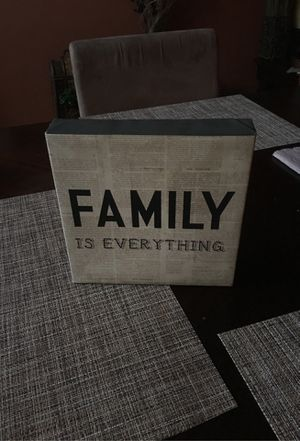 Family decor sign 8x8 for Sale in Fresno, CA