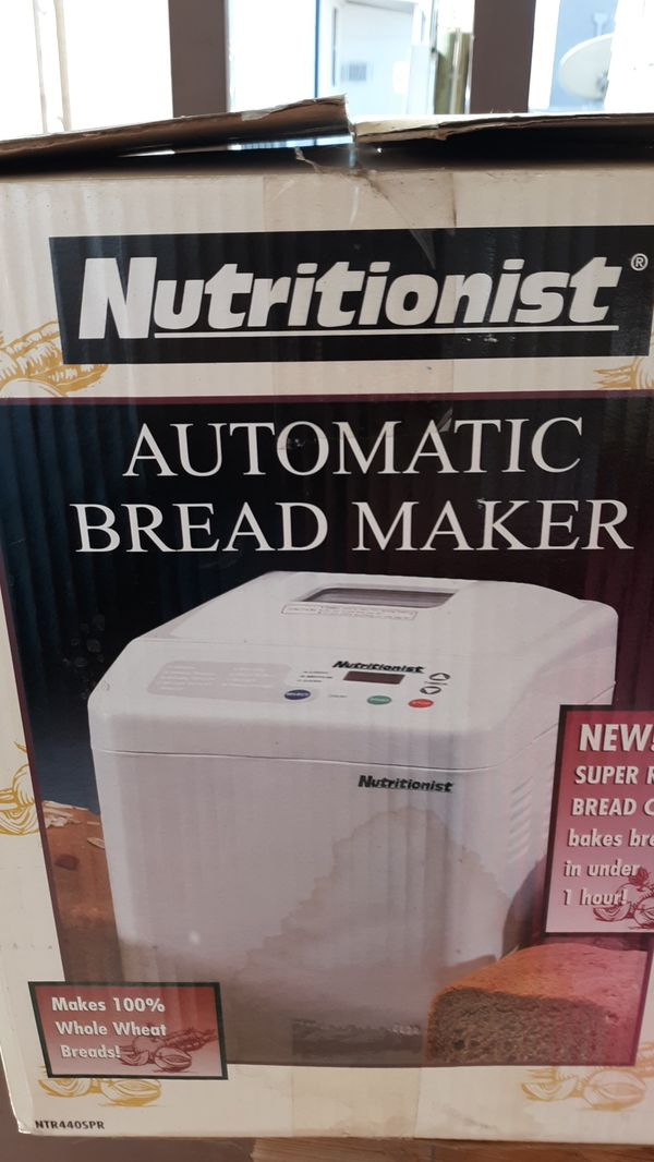 Nutritionist automatic bread maker brand new