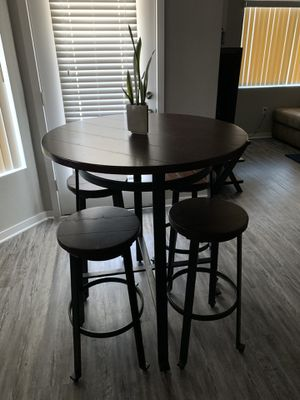 High pub table 4 stools for Sale in Avondale, AZ