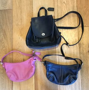 3 Coach Bags: 1 backpack & 2 purses for Sale in OR, US