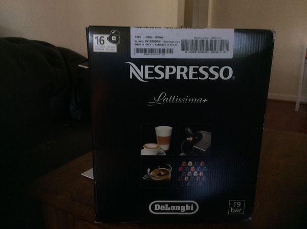 Nespresso Lattissima 19 bar coffees machine ( Brand news) never opened boxes 📦