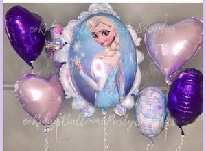Elsa balloons globos de Elsa for Sale in Chicago, IL