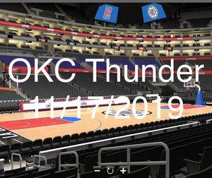 Oklahoma City Thunder VS LA CLIPPERS CLUB SEATS ROW 10 - 2 TICKETS for Sale in Marina del Rey, CA