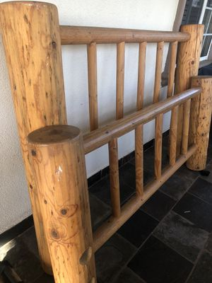 Cabin Wood Hand Made Queen Bed Frame !!!!! for Sale in Huntington Park, CA