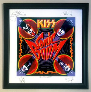 KISS autographed limited edition print, framed for Sale in Lafayette, CA