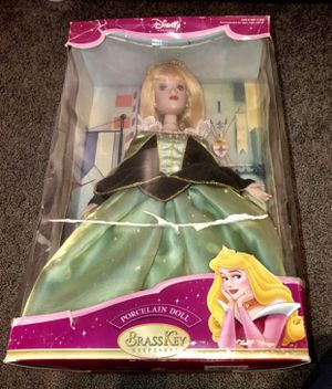 Disney Sleeping Beauty Brass Key Porcelain Doll 2004 for Sale in Stoughton, MA