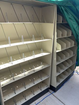 Metal medical file bookshelves for Sale in Las Vegas, NV