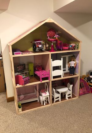 "Doll House, 6FT Tall, for 18"" Dolls with Furniture and Accessories for Sale in Lancaster, OH"