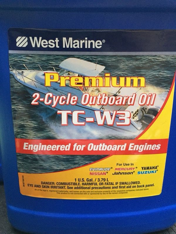 Premium 2-Cycle TC-W3 Outboard Oil, 1 gallon  for Sale in Vancouver, WA -  OfferUp