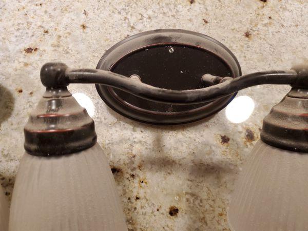 Oil Rubbed Bronze Vanity Lights set of 2