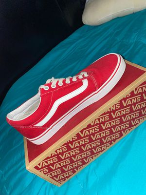 Red vans size 10 for Sale in Tucson, AZ