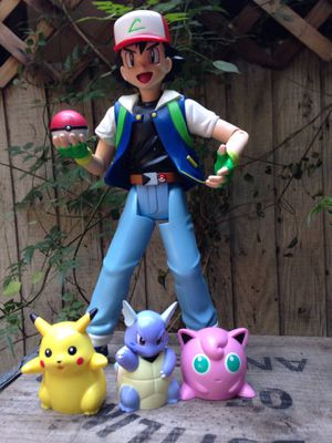 Vintage Original Nintendo Pokémon Talking Ash Action Figure with Pikachu, Wartortle and Jigglypuff for Sale in Pomona, CA