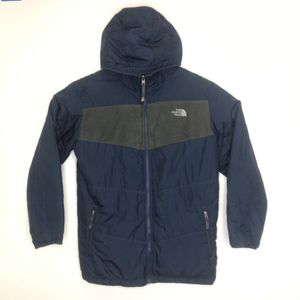 The North Face Grey/Blue Full Zip Hooded Sweater Reversible Boys XL 18/20 Jacket for Sale in Chino, CA