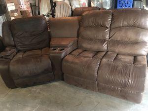 Microfiber reclining soda for Sale in Shoreline, WA