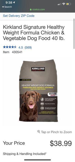 Kirkland 40 pound dog food for Sale in San Jose, CA