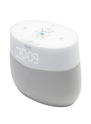 iHome Google Assistant Built-in Chromecast Smart Home Alarm Clock with Wi-Fi Multiroom Audio Bluetooth Speaker System for Streaming Music for Sale in Hollywood, FL