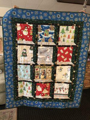 Handmade quilt ( Christmas/winter) for Sale in Spokane, WA