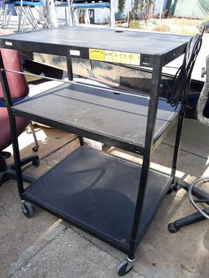AV cart with electrical plug for Sale in Houston, TX
