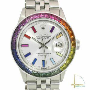 Rolex Mens Datejust 36mm Unisex Silver Rainbow Dial & Bezel Steel Watch for Sale in Marina del Rey, CA