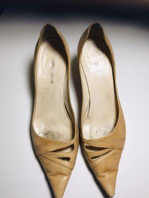 Georgio Armani tan leather pumps. 71/2 for Sale in Los Angeles, CA