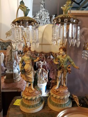 Antique pair of lamps for Sale in Tampa, FL