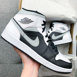 🖤🤍 Men's Nike Air Jordan 1 Retro Mid Black White Grey Shoes 10.5 11 11.5 12 13 for Sale in Huntington Beach, CA