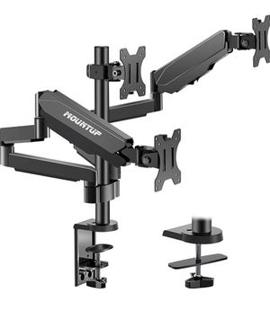 MOUNTUP Triple Monitor Stand Mount - 3 Monitor Desk Mount for Computer Screens Up to 27 inch, Triple Monitor Arm with Gas Spring, Heavy Duty Monitor for Sale in Palmdale, CA