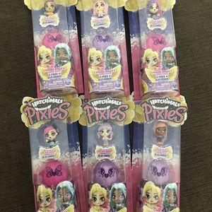 Hatchimals mini pixies (6pc) bundle for Sale in Algonquin, IL