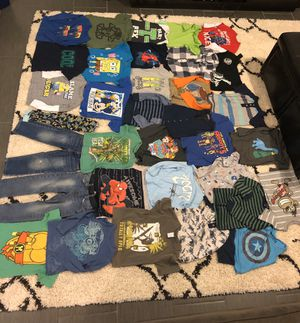 34piece lot bundle 4t boy clothes tops shirts bottoms pants playtime play time kid toddler child for Sale in West Covina, CA