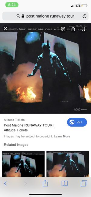 [HALF OFF] POST MALONE RUNAWAY TOUR CALIFORNIA Tickets for Sale in Los Angeles, CA